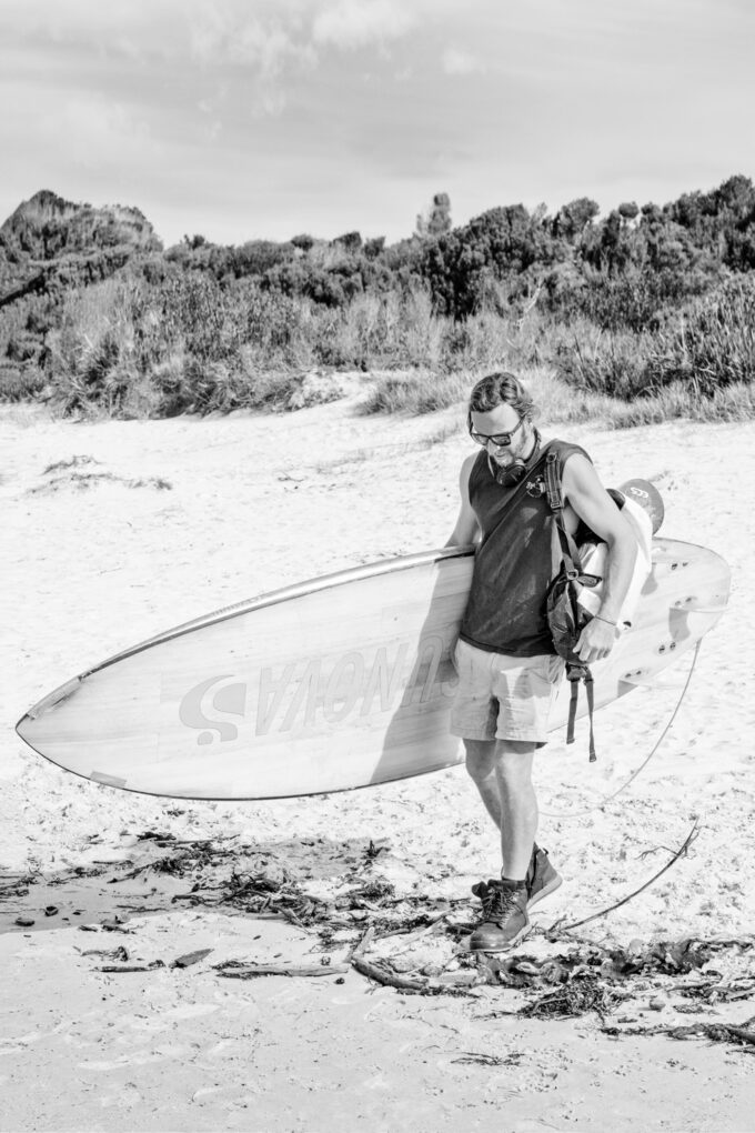 Fine art print of TASSIE SURFER #V