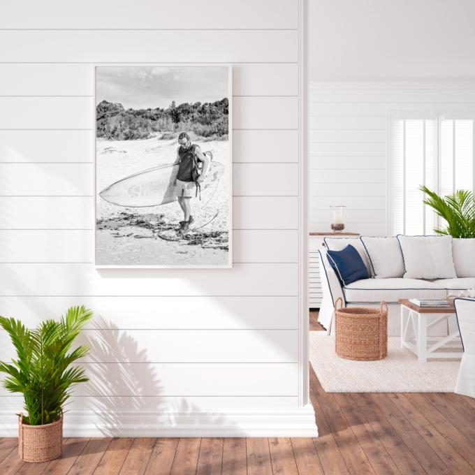 Fine art print of TASSIE SURFER #V on your wall